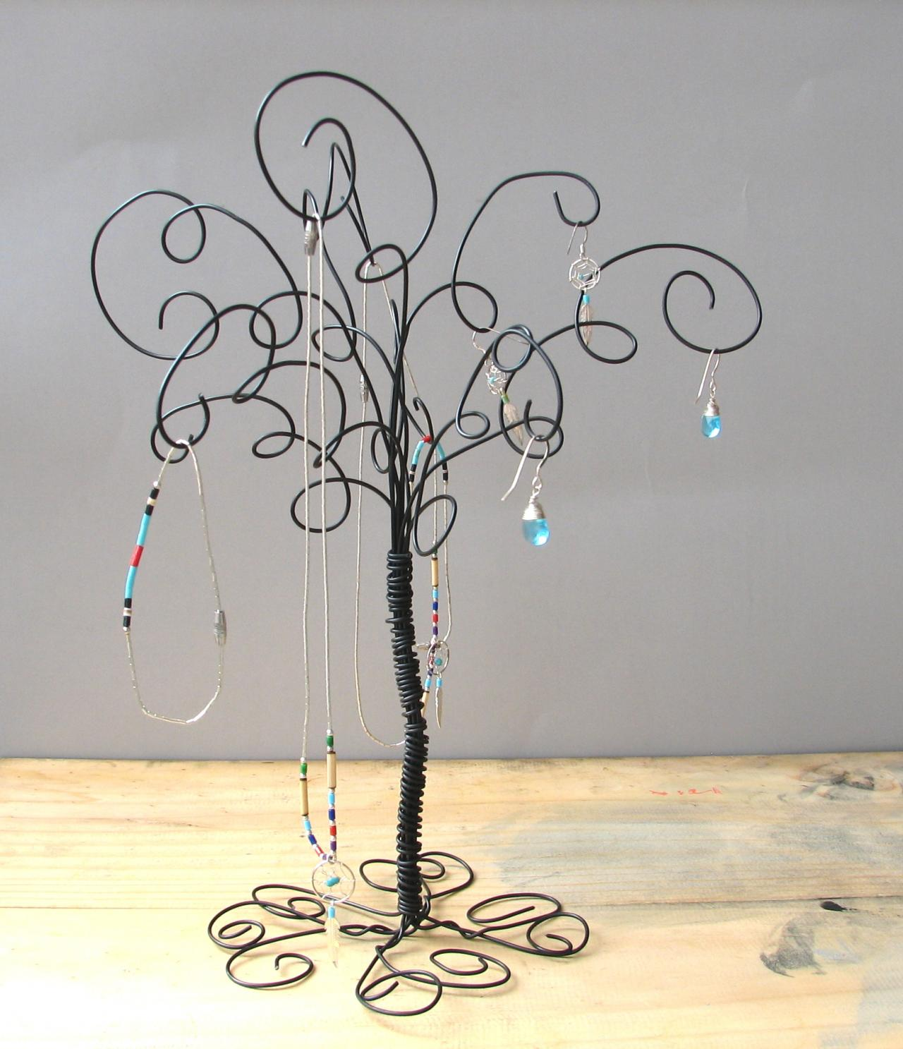 Christmas Tree Graphic Organizer: Wire Jewelry Tree Stand , Earring, Rings,Bracelets