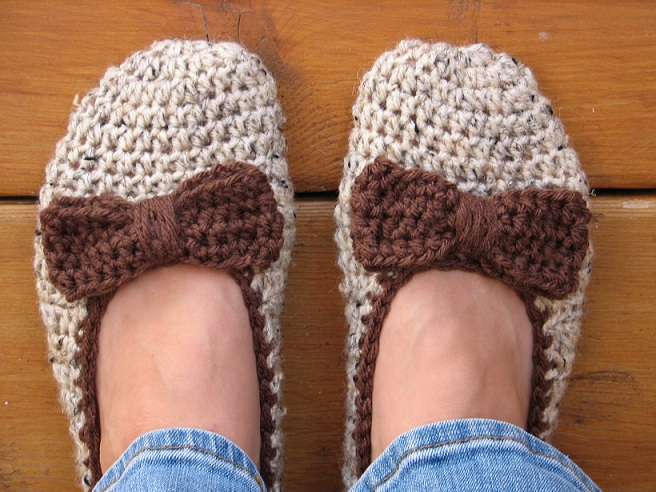 168961ac687b4 Crochet Women Slippers - Accessories, Adult Crochet Slippers, Home Shoes,  Crochet Women Slippers