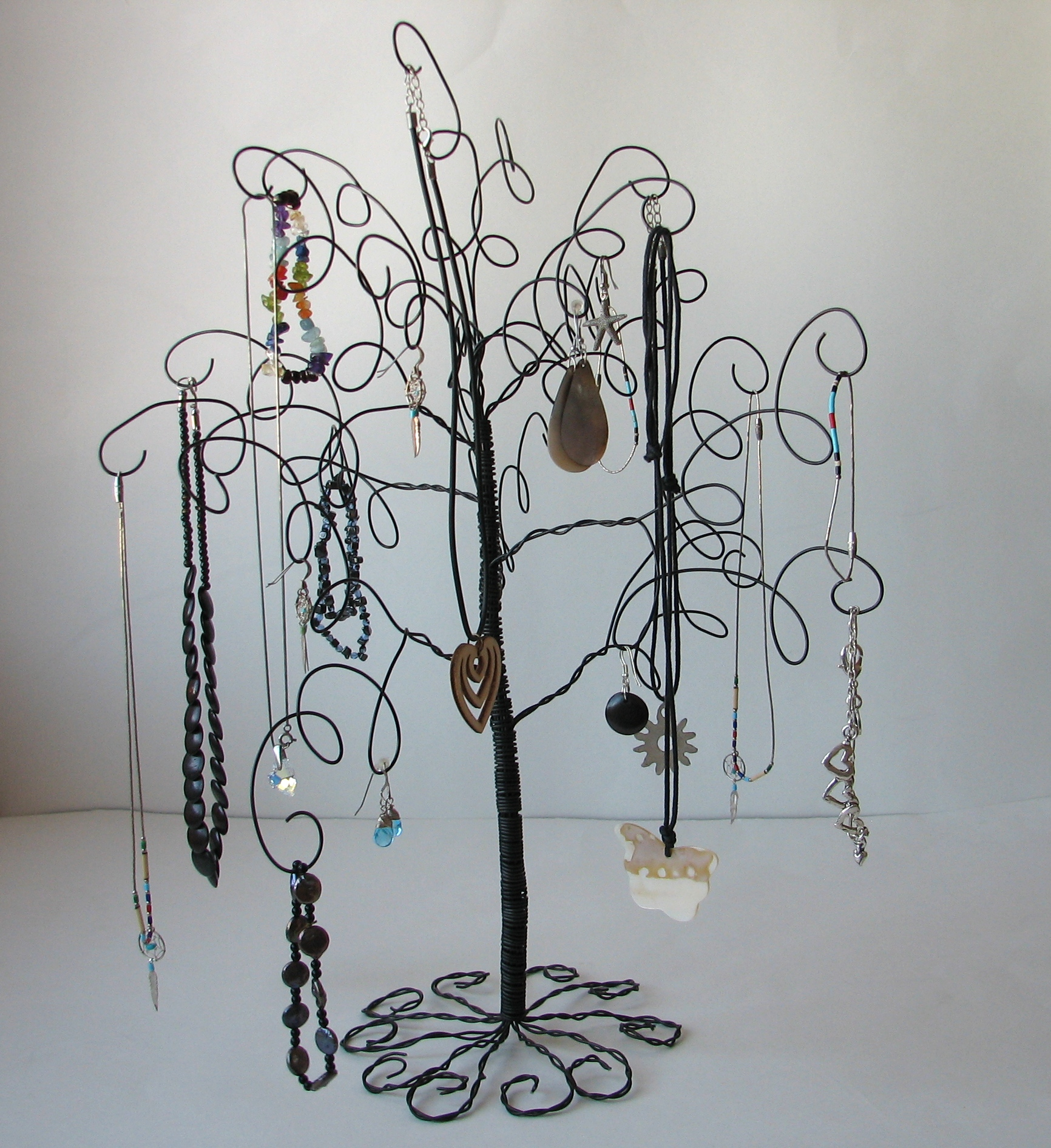 Wire Jewelry Tree Stand , Earring, Rings,Bracelets, Organizer ...